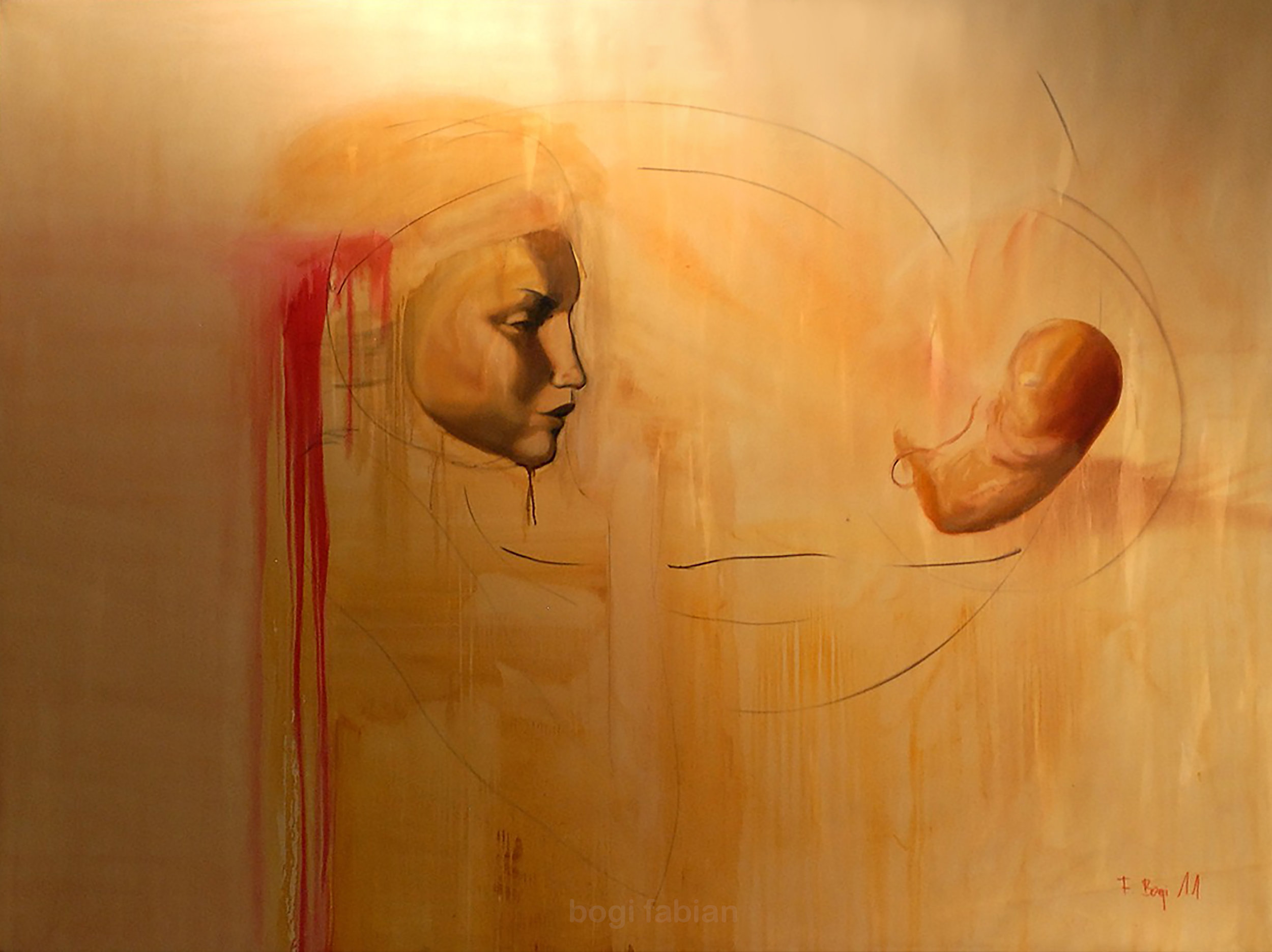 """GONE"" 2011 / Oil on canvas 150 x120 cm AVAILABLE price on request"
