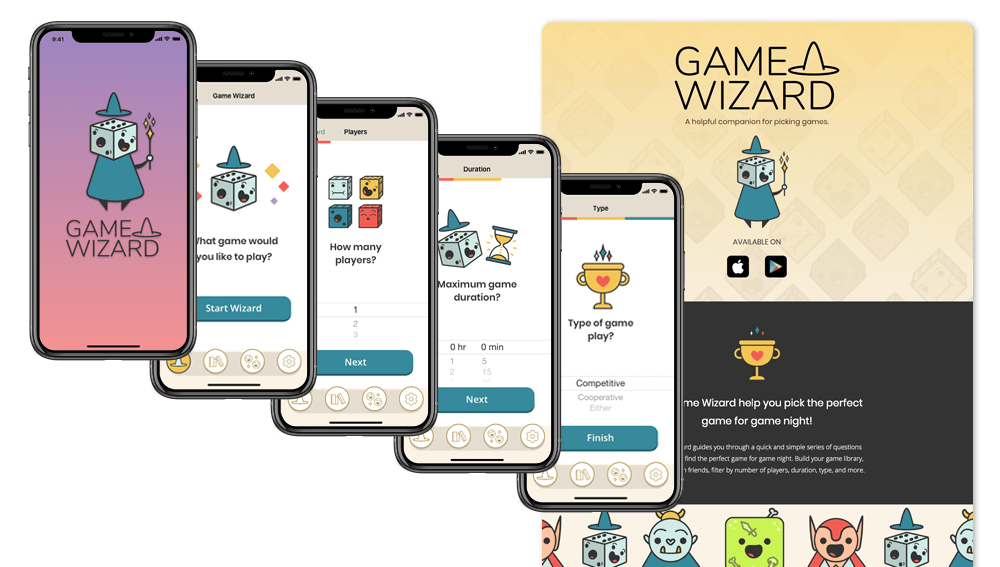 Game Wizard App Design