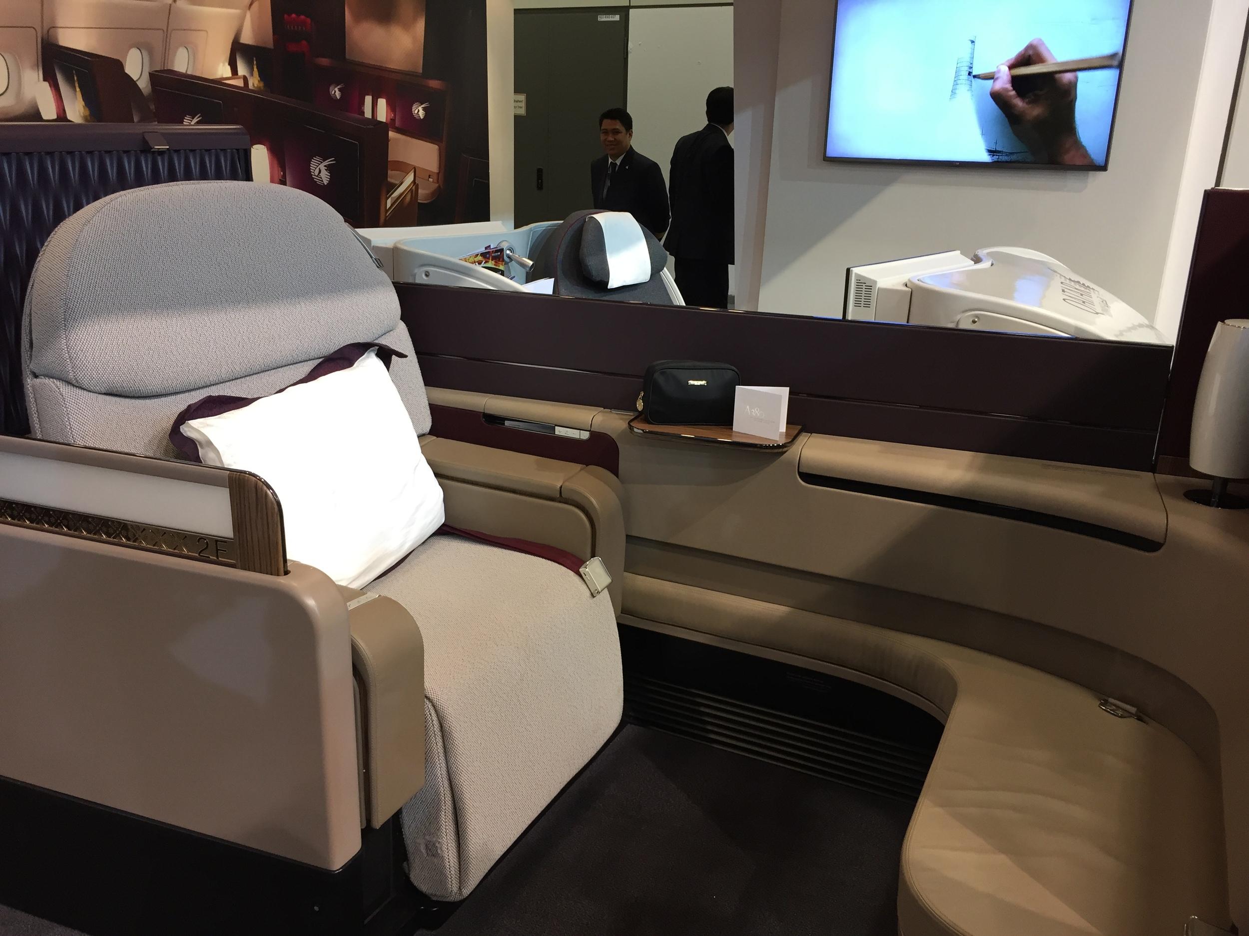 The new First Class -Qatar Airways Airbus 380