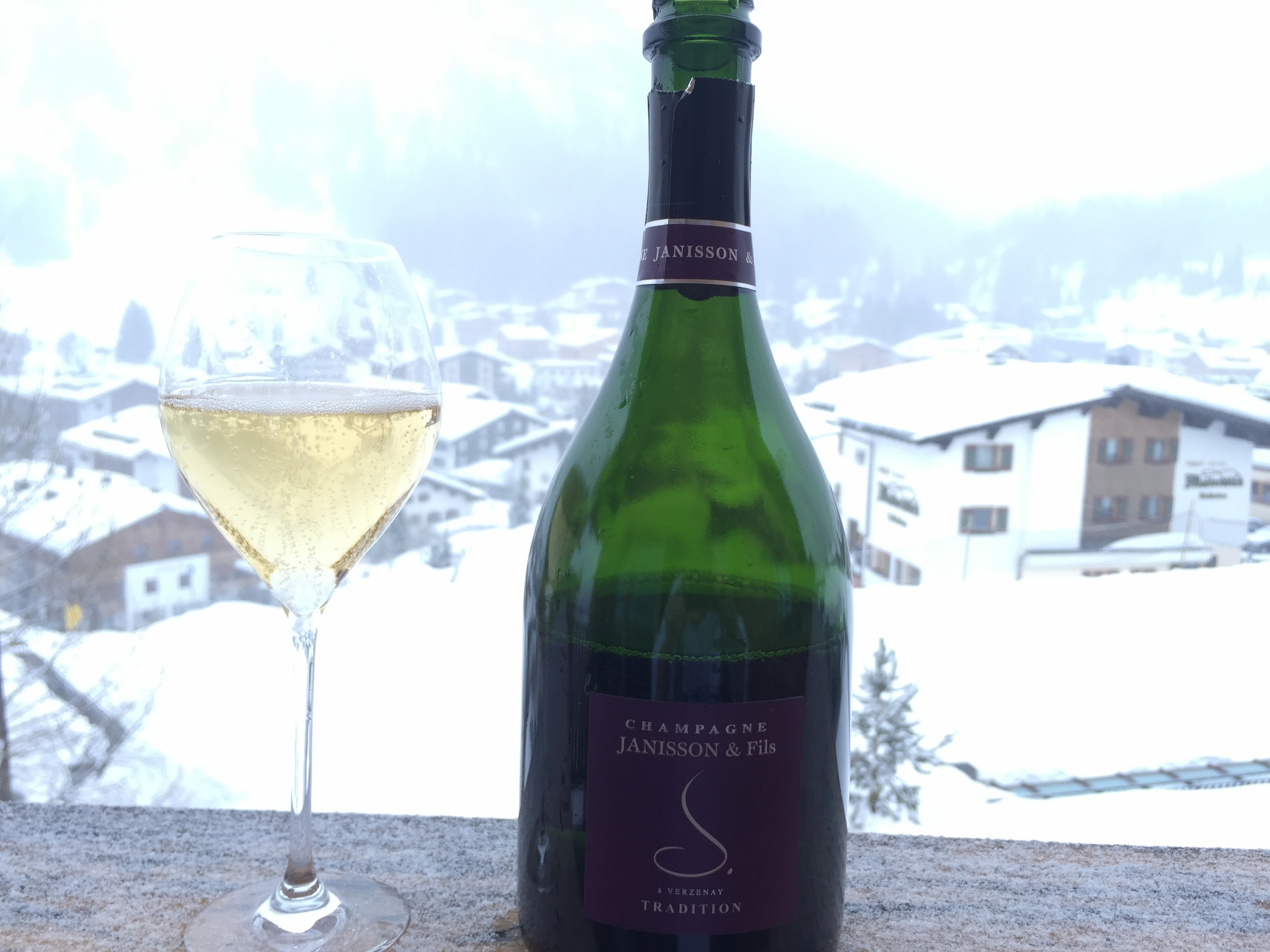 The expensive Aurelio Lech and a bottle of Janisson Brut Traditional - Degustation at its best!