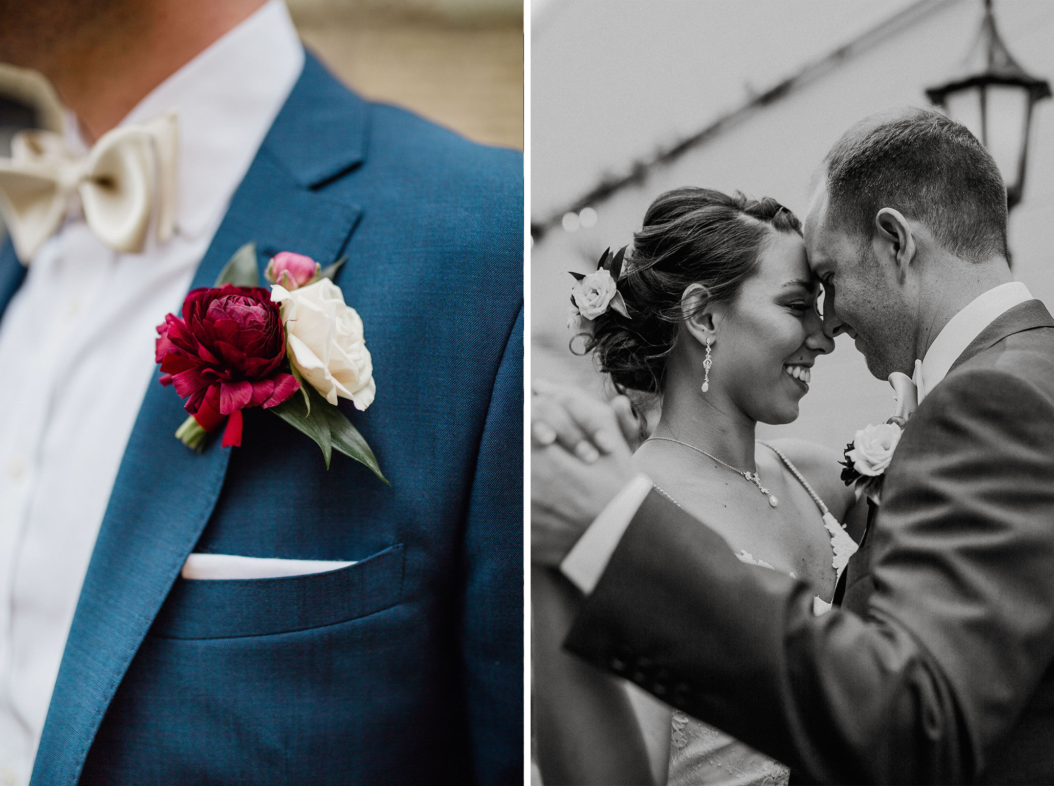 22 2 boutonniere bride first look rachel desjardins studio wedding story telling moments photography kellermans event center minnesota cry emotional.jpg