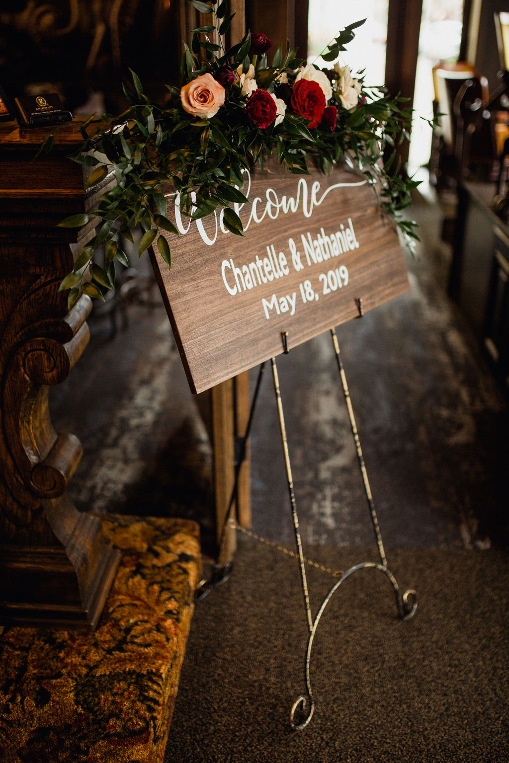 24 signage sign calligraphy first look rachel desjardins studio wedding story telling moments photography kellermans event center minnesota.jpg