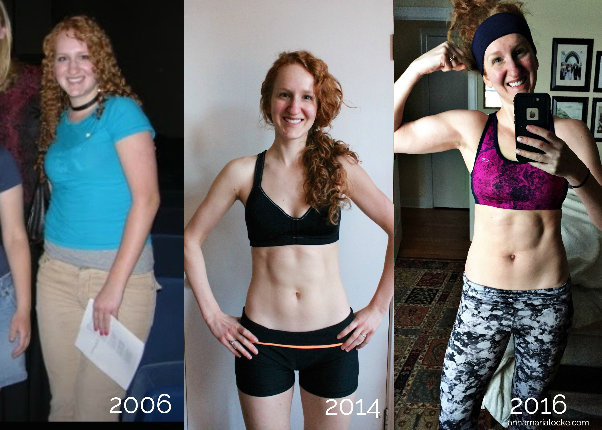 Me at my heaviest weight, lightest weight, and today...somewhere in between but in the best shape of my life.