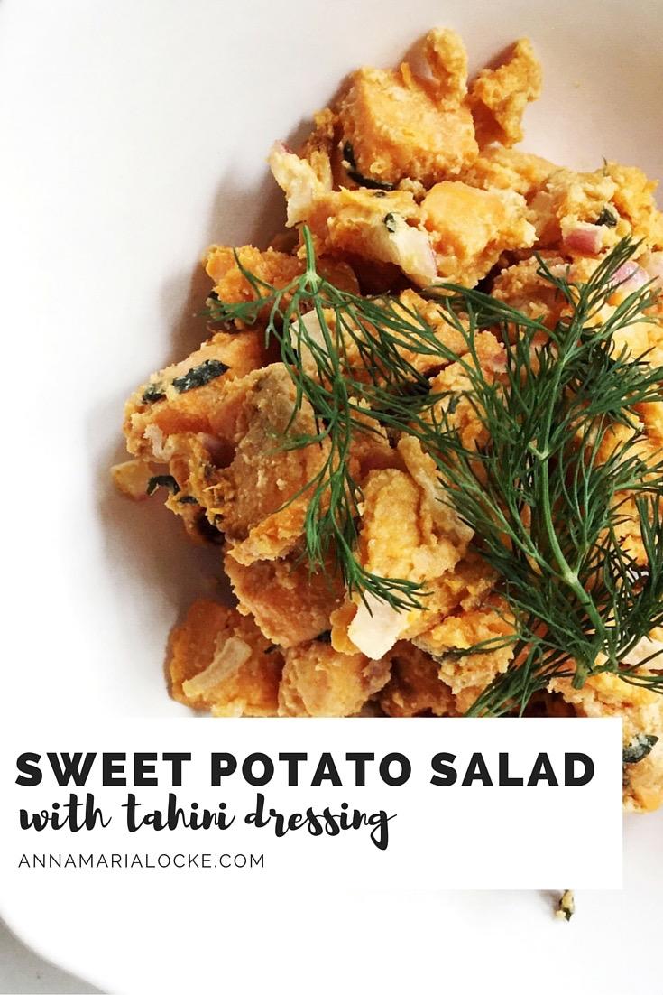 Roast Sweet Potato Salad with Tahini Dressing
