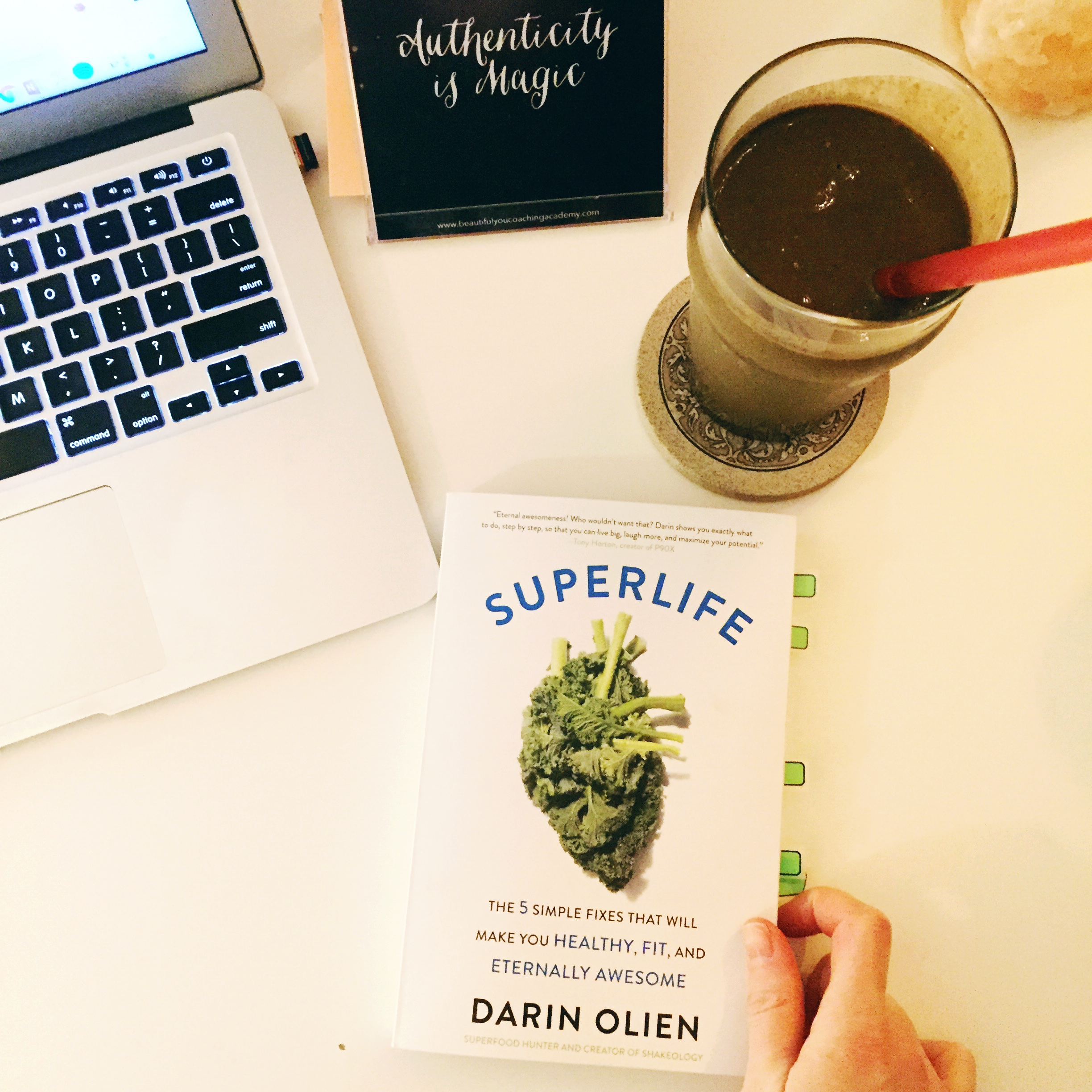 Here I am being a total SuperLife cliche - drinking my superfoods and writing this review!