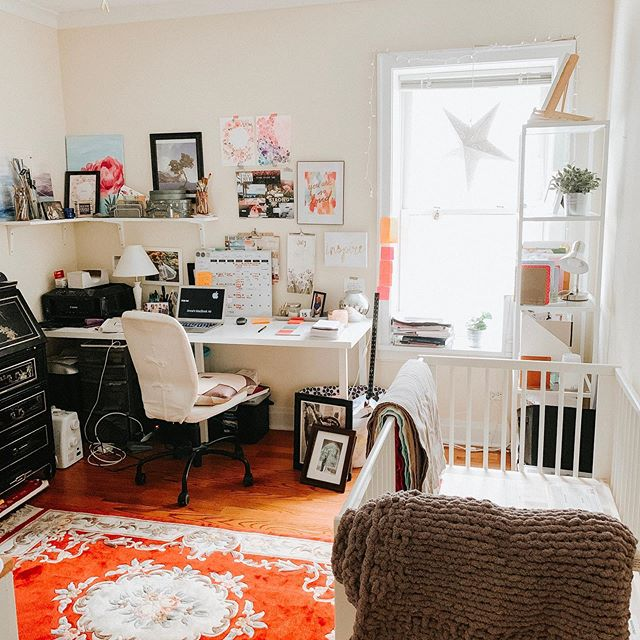 Change is hard, even positive change that we choose for ourselves, because it always involves loss: we're forced to give up our old/current reality and identity to move forward and welcome the new.  The new is unknown and overwhelming.  This might sound silly but I was really anxious about turning my home office into the baby's room because for so long it was my dream to have my own creative work space and now I finally have it, I didn't want to give it up.  At the same time I had to grieve my dream of having a dedicated nursery decorated with beautiful and classy furniture... at this season of life we're still in our cozy city apartment and I was resentful we had to make do with what we have, Pottery Barn Kids taste on an Ikea/hand me down budget.  Yeah first world problems I know, but still real feelings.  Yesterday Ben set up the crib and we decluttered and organized the room and it's still a work in progress but I can finally SEE what I wasn't able to vision in my mind.  It might not be one dream coming true, but something even bigger. Being able to create a life where I can be home with my baby and also build a business that's a direct expression of my creative heart.  Today marks one month until guesstimated D-Day and I can't wait to meet my new coworker and roomie ♥️ #babybenanna