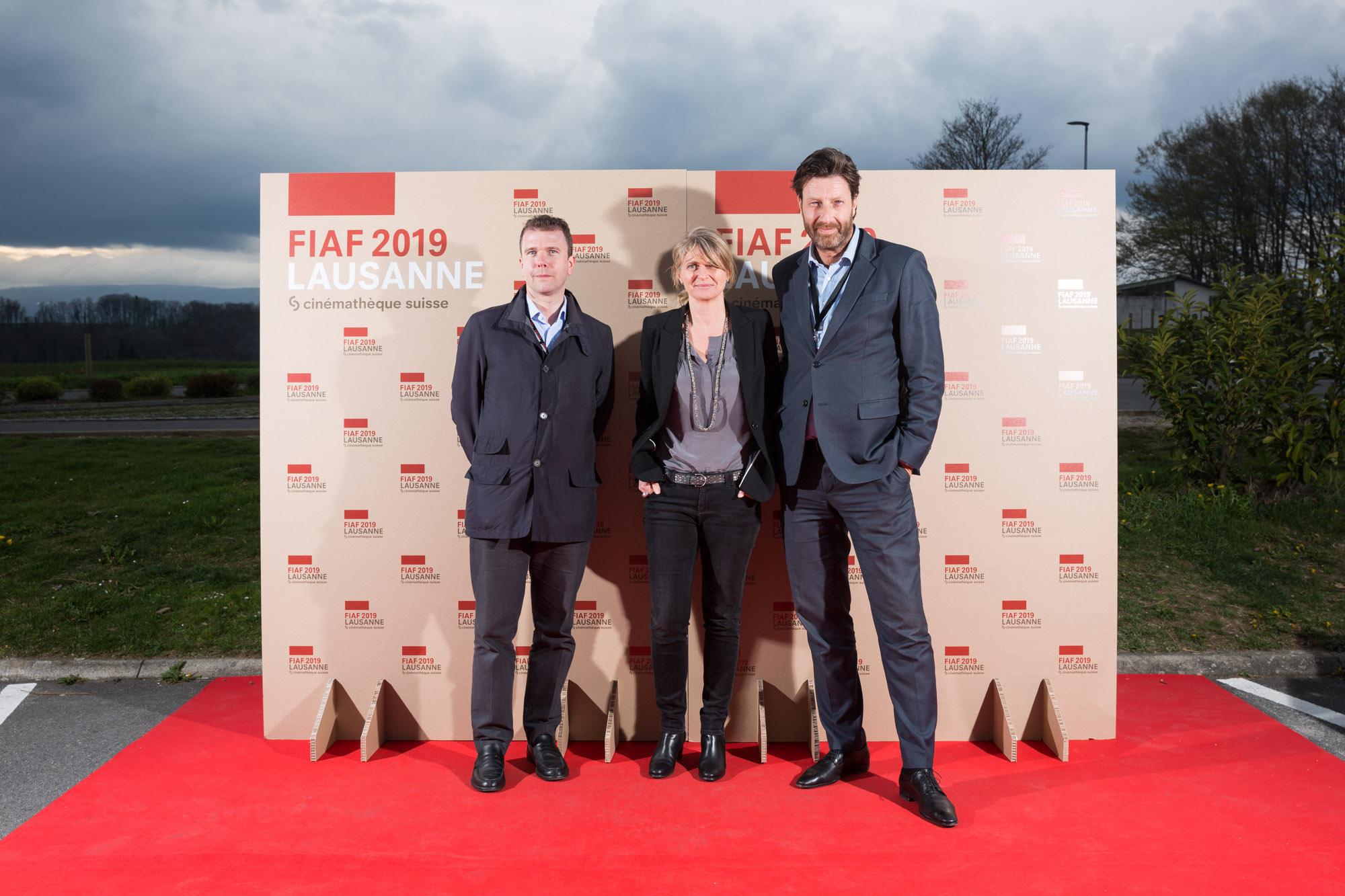 Photocall à la FIAF 2019, cinemathèque Suisse, Lausanne. Photographe: Pierre-Yves Massot