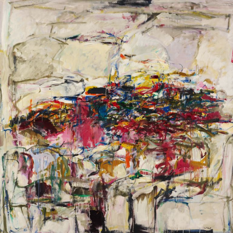 City Landscape (1955).  Oil on canvas.  80 x 80 inches.  Courtesy of the Joan Mitchell Foundation.