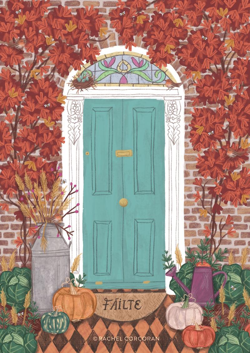 Dublin door illustration by Rachel Corcoran