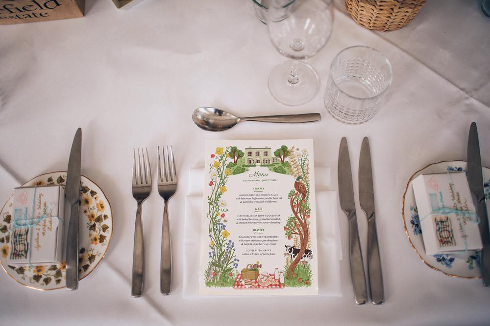 Irish Wildflower Wedding Stationery Design by Rachel Corcoran