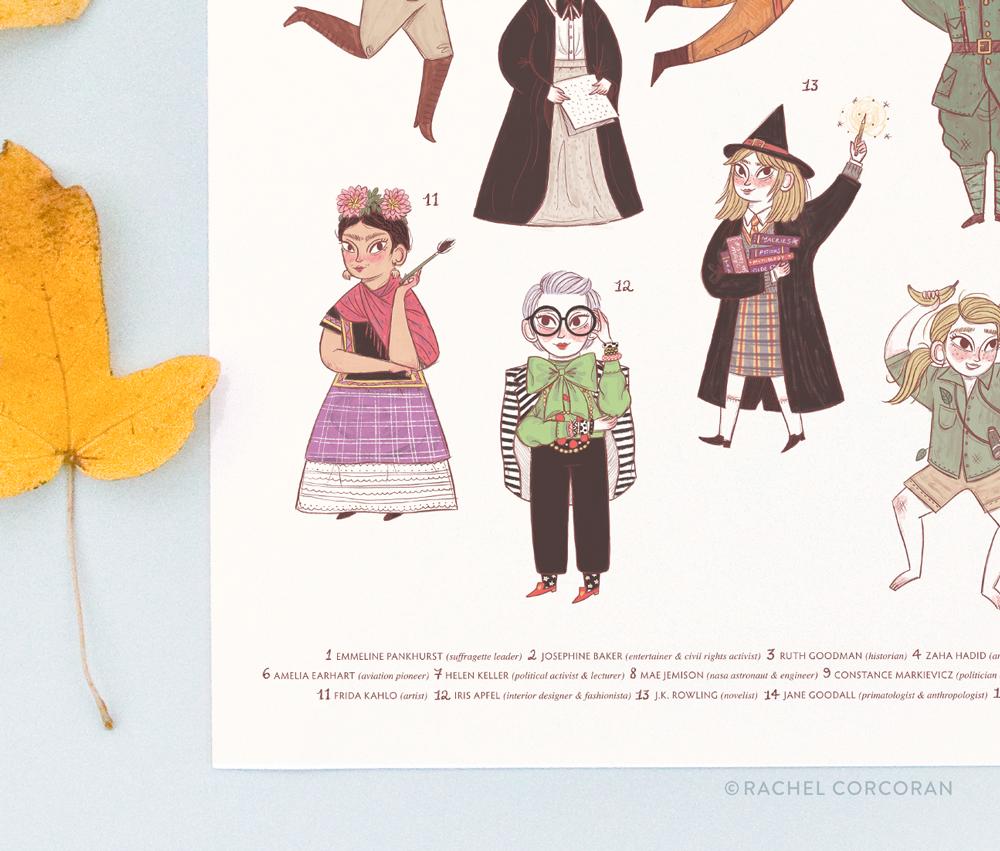 Little Women Big Ideas print by Rachel Corcoran