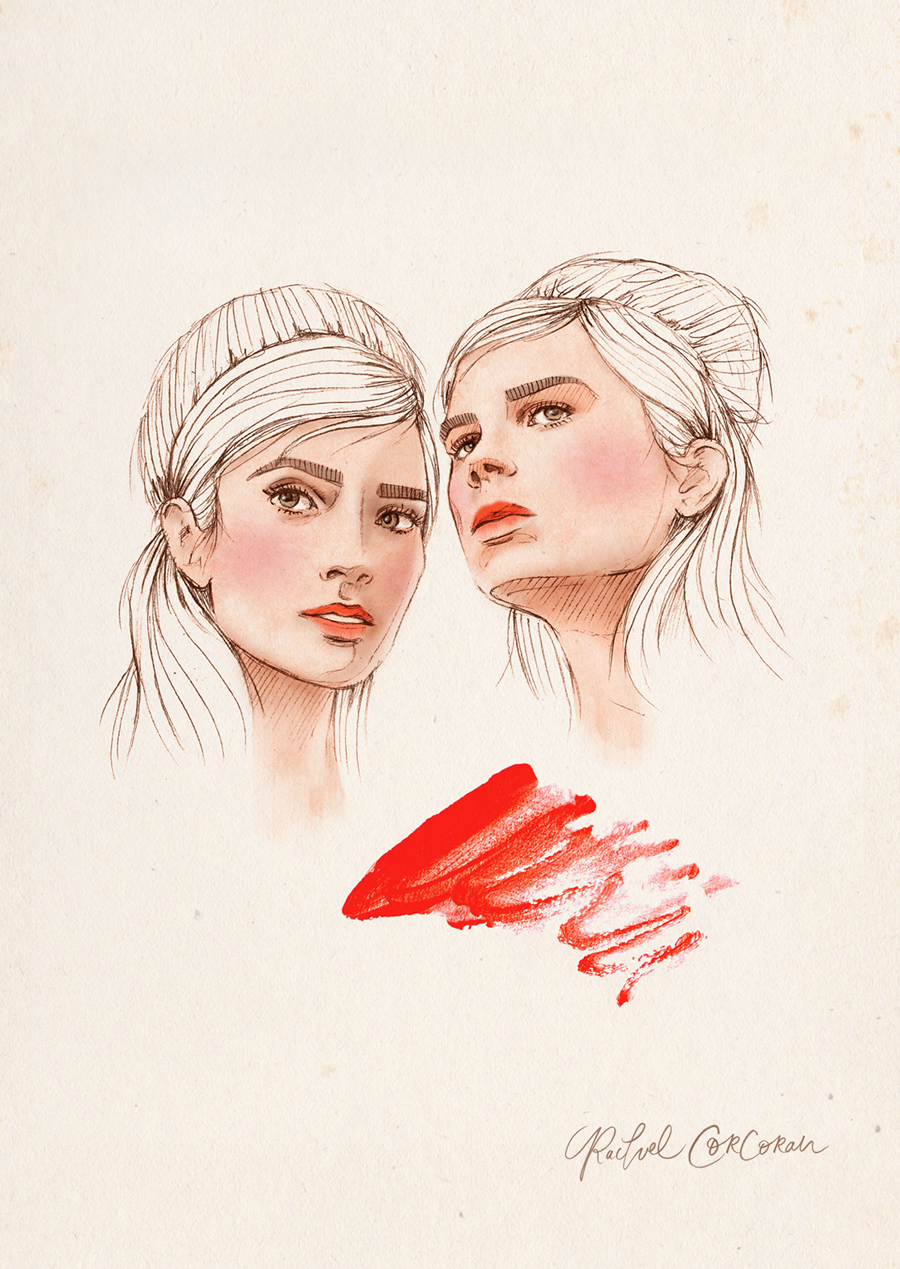 Fashion illustration by Rachel Corcoran