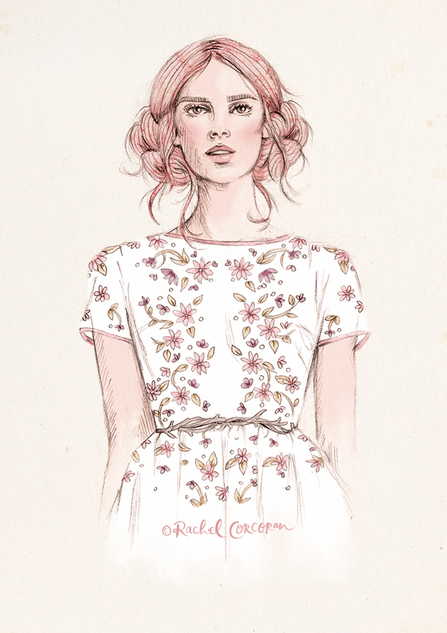 Fashion illustration by Rachel Corcoran