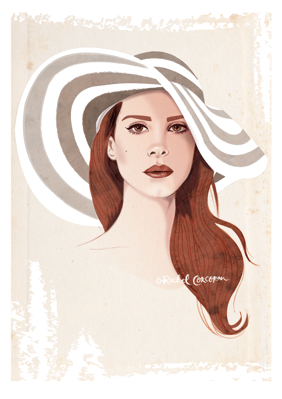 Lana del Rey illustration by Rachel Corcoran