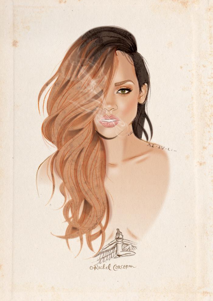 Rihanna illustration by Rachel Corcoran