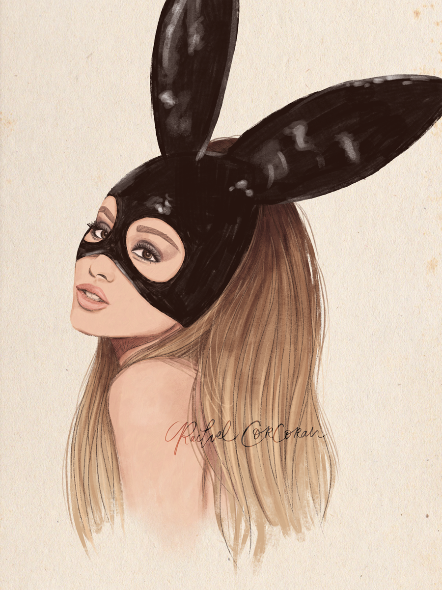 Ariana Grande fashion illustration by Rachel Corcoran