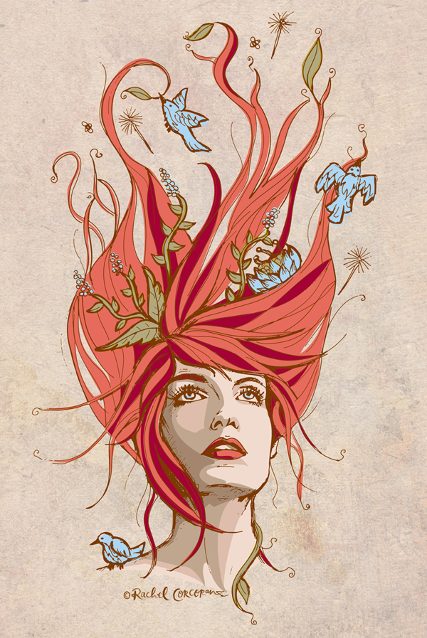 Florence Welch illustration by Rachel Corcoran