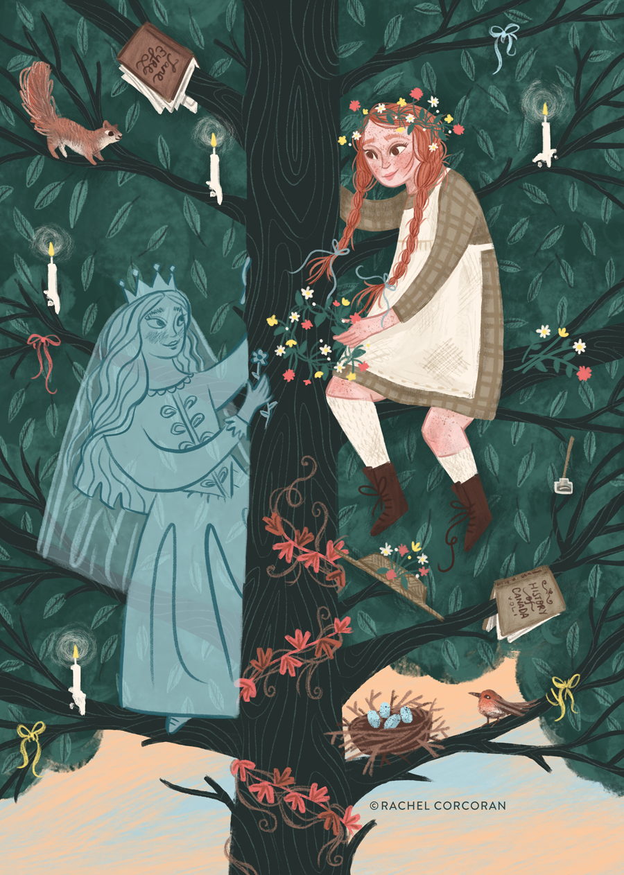 Anne of Green Gables illustration by Rachel Corcoran