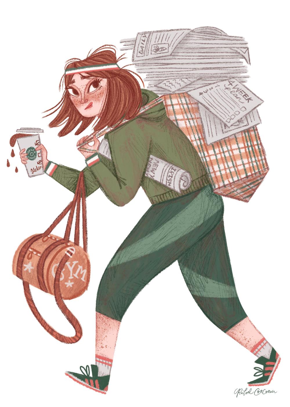 Image Magazine editorial illustration by Rachel Corcoran