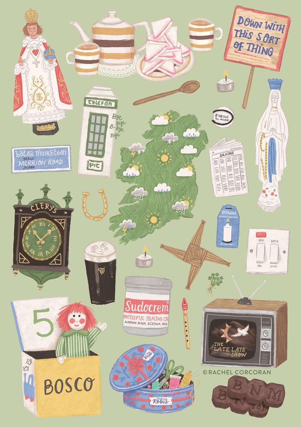 Home Sweet Home Irish illustration by Rachel Corcoran
