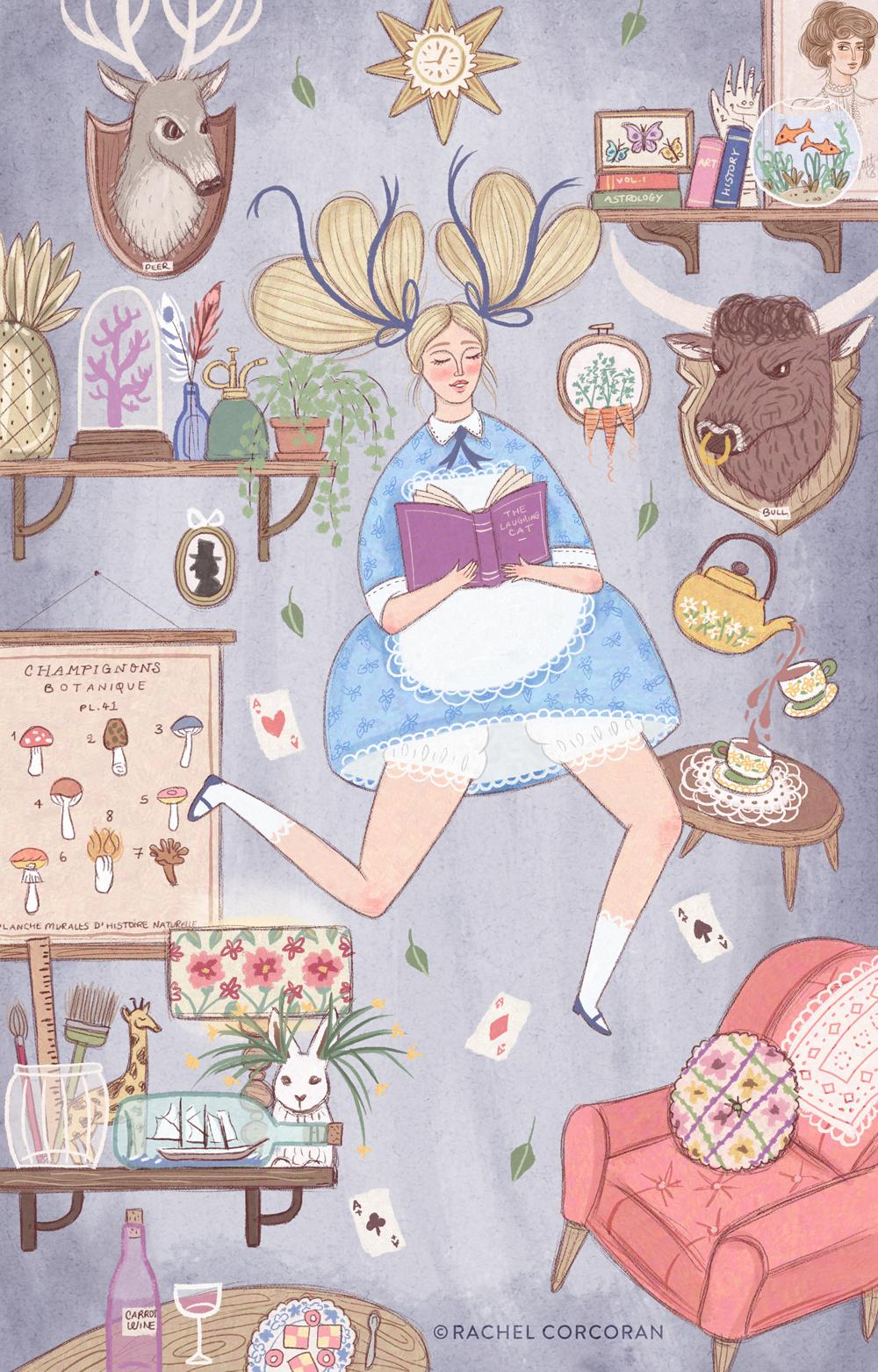 Alice in Wonderland illustration by Rachel Corcoran
