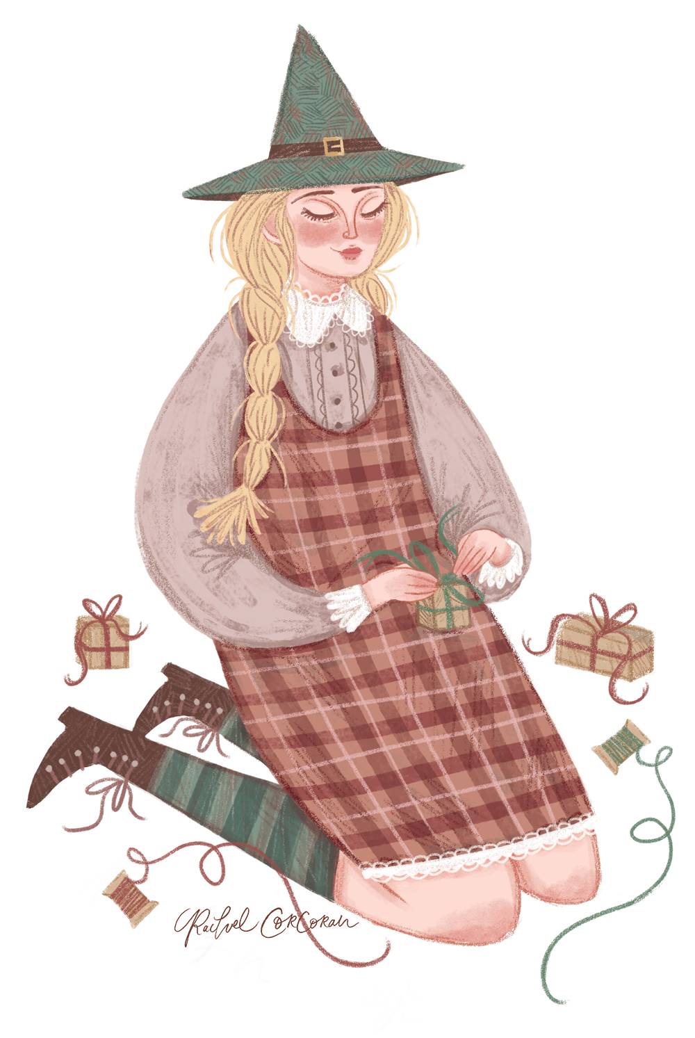 Witch craft illustration by Rachel Corcoran
