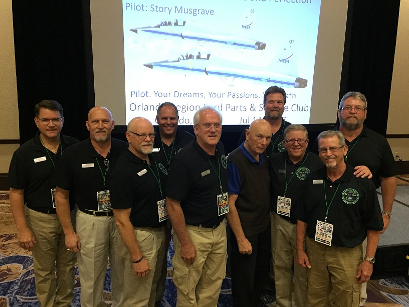 The Board of Directors with featured speaker  Former NASA astronaut Dr. Story Musgrave after his unique and fascinating presentation