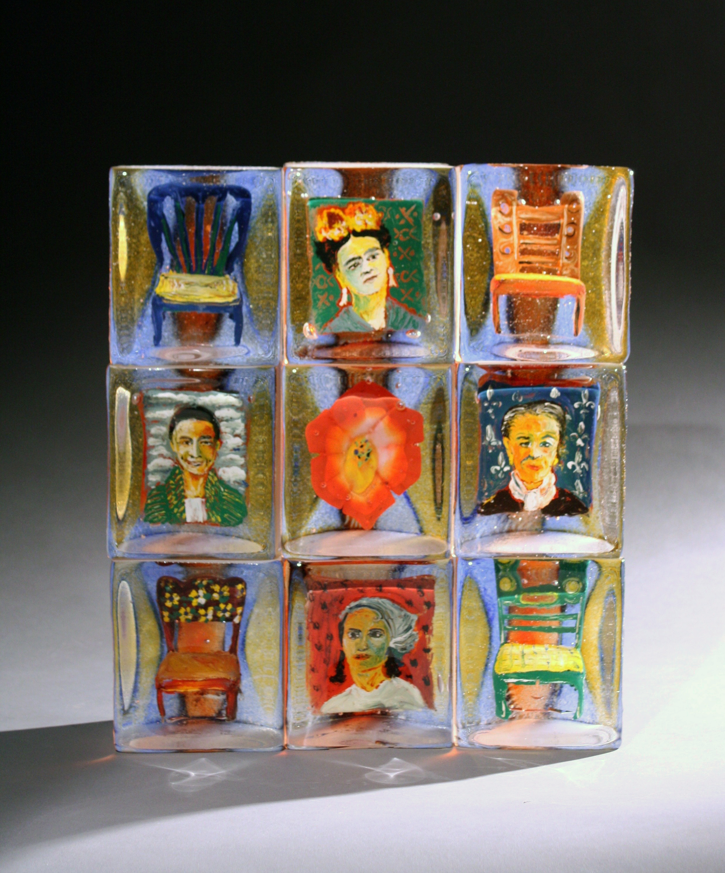 Four Artists (2015)  was recently acquired for  Bergstrom Mahler Museum of Glass  thanks to gifted funds from the family of Leon DeJongh.