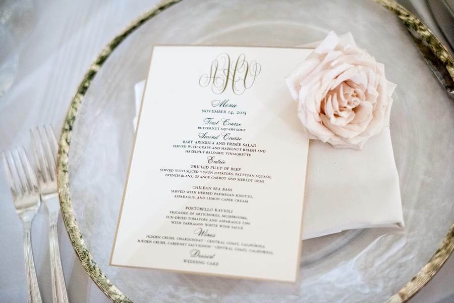 pasadena-wedding-planner-dinner-menu