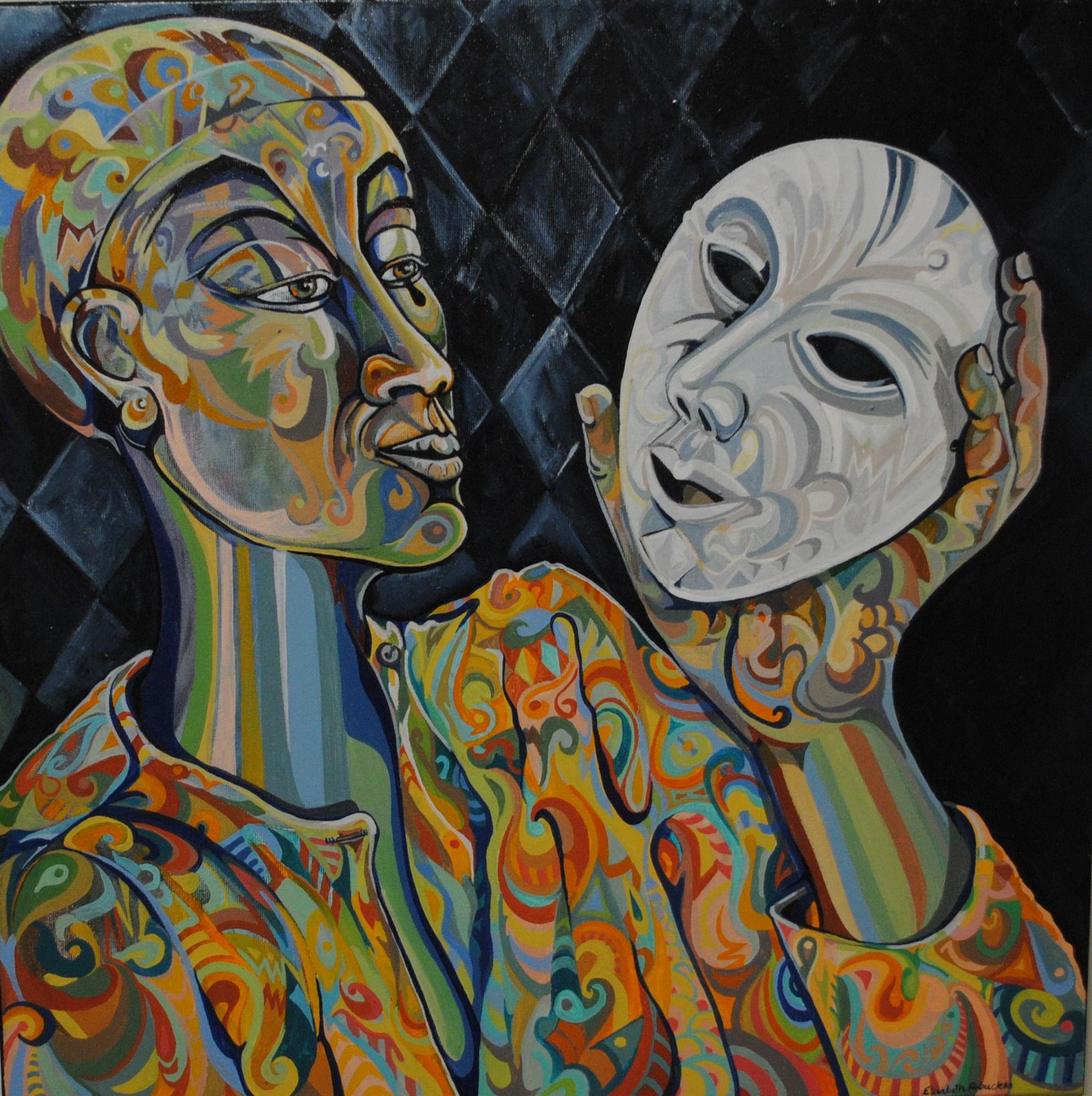 The Masks We Wear   SOLD