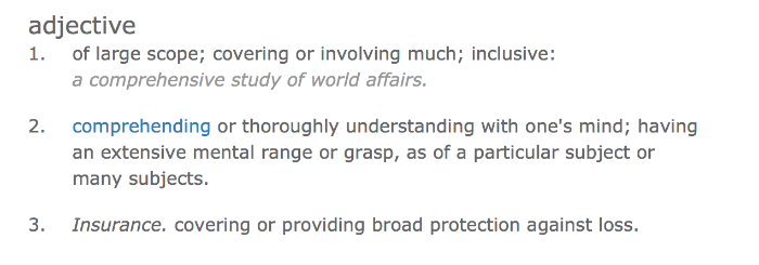 The definition even includes an insurance reference!!