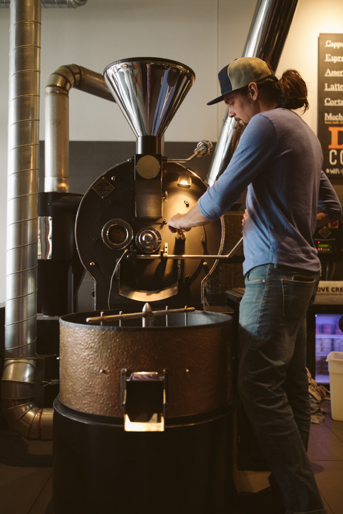 Eric Faust - Founder and Owner of Duluth Coffee Company. Photo Credit: Mad Chicken Studios