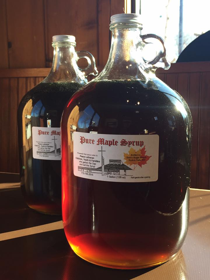 Community collected maple syrup at The Watershed Cafe