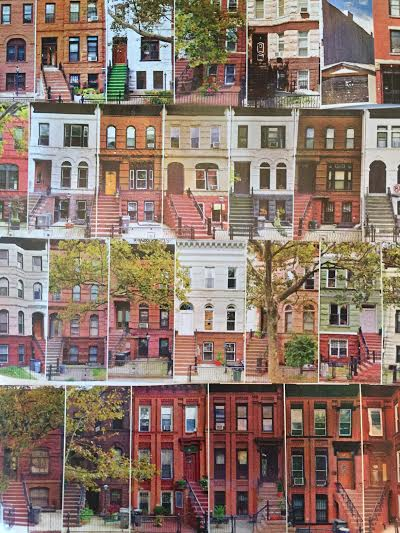 Collage of Brownstones in Bedstuy, Brooklyn.