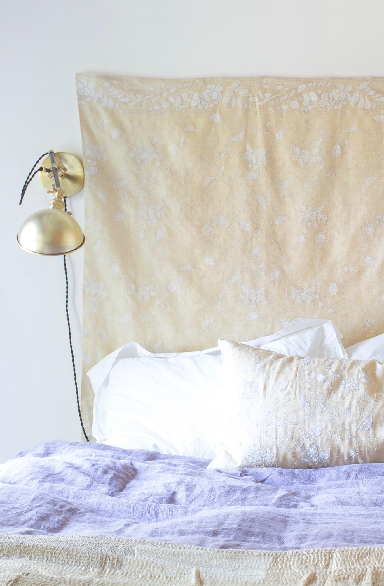 Indigo & Ochre Design Cobble Hill Master Bed closeup