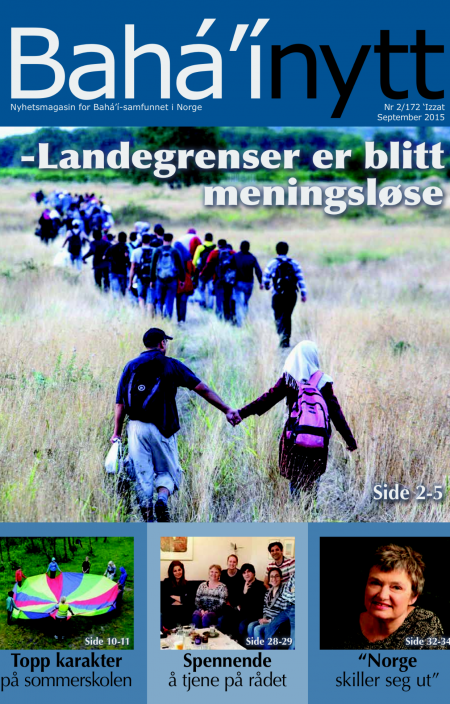Teksten er hentet fra Bahá'í Nytt, nyhetsmagasinet for Bahá'í-samfunnet i Norge.