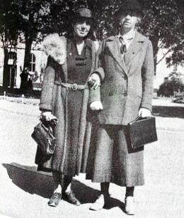 Martha Root (t.v.) og johanna Schubarth i Oslo 19. august 1935