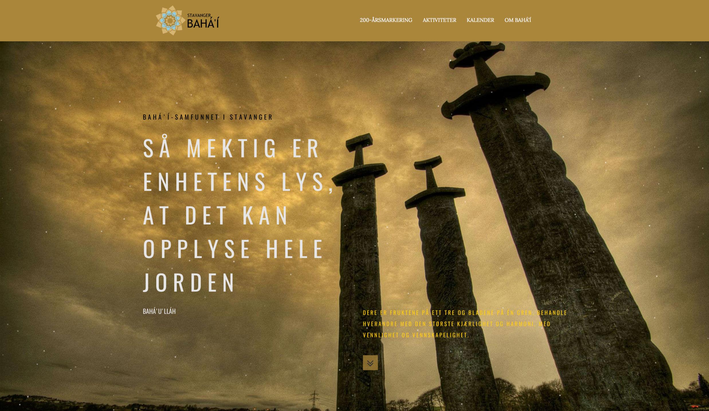Bahá'í-samfunnet i Stavanger - Klikk her for å gå til deres lokale nettside.