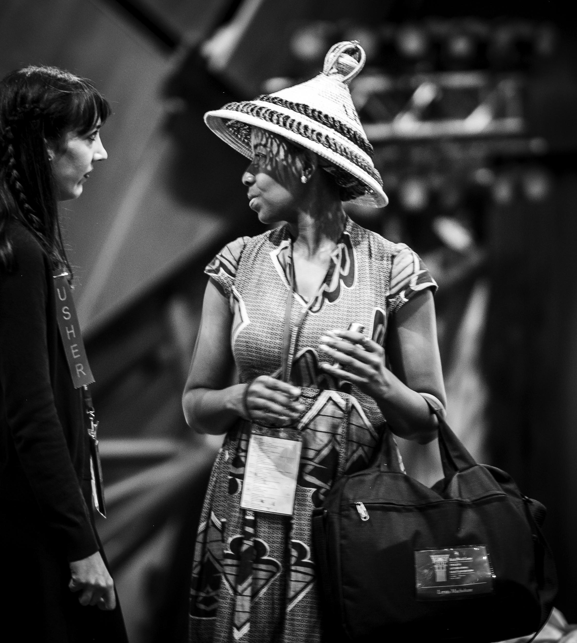 En delegat fra Lesotho før Konventet starter. Foto: Nasjonalt Åndelig Råd.