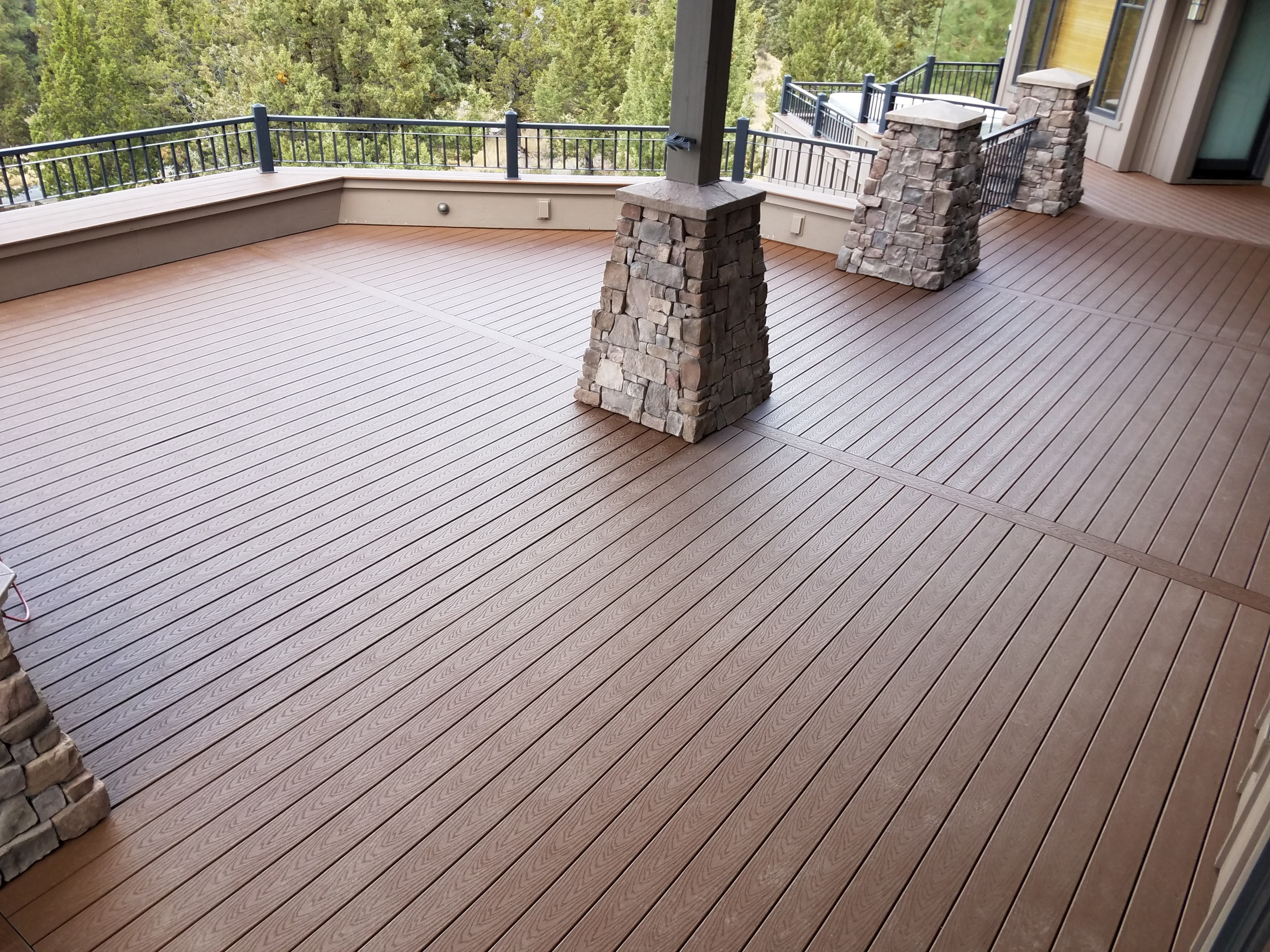 Updated to capped composite Trex Select decking. Awbrey Butte, Bend Oregon
