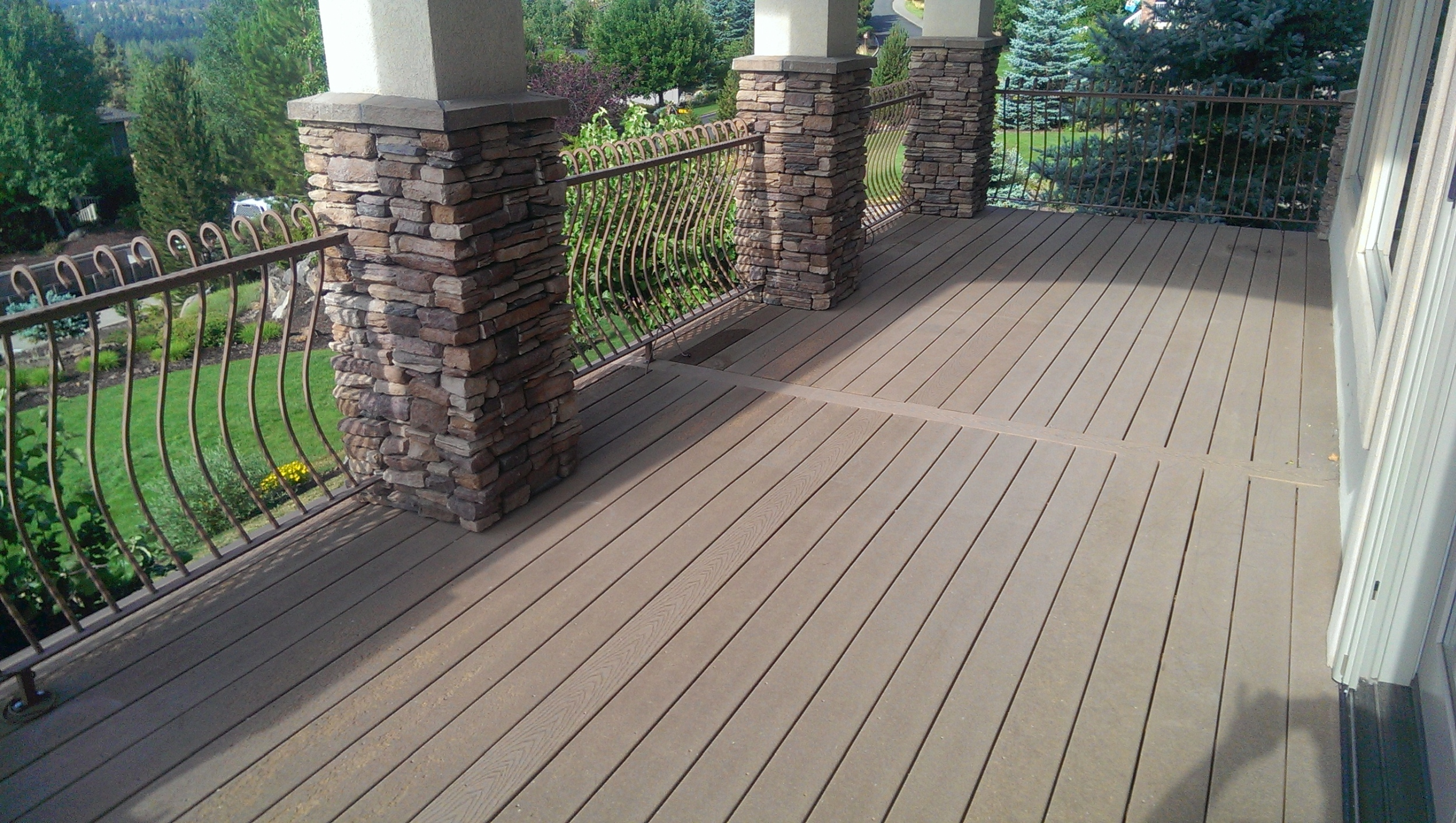 First Generation non-capped Trex decking.
