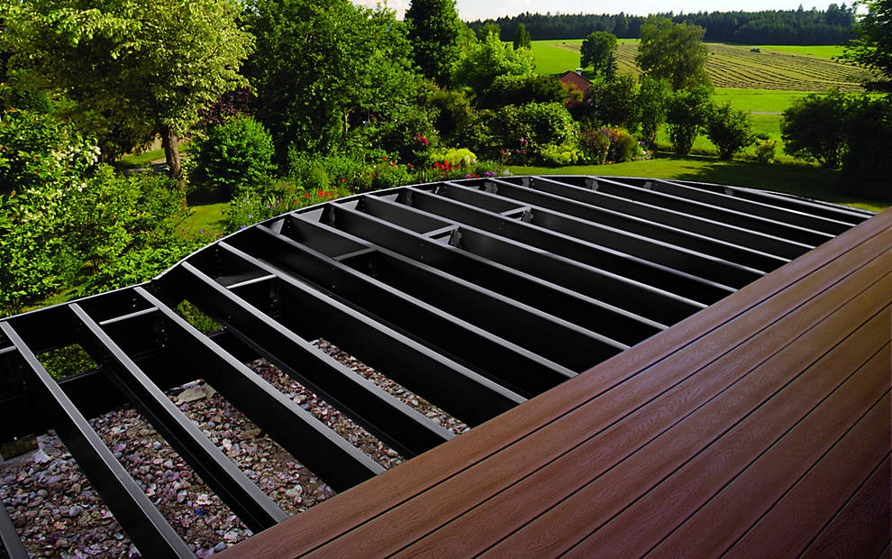 Framing - If the idea of placing a 25, 30, or 50 year decking plank atop a wooden substructure bothers you, and if you're also a fan of longevity, superior strength, class A fire spread rating, and a perfectly flat decking surface, you might consider using steel deck framing. Yep…it's a real thing, and more affordable than you might think.