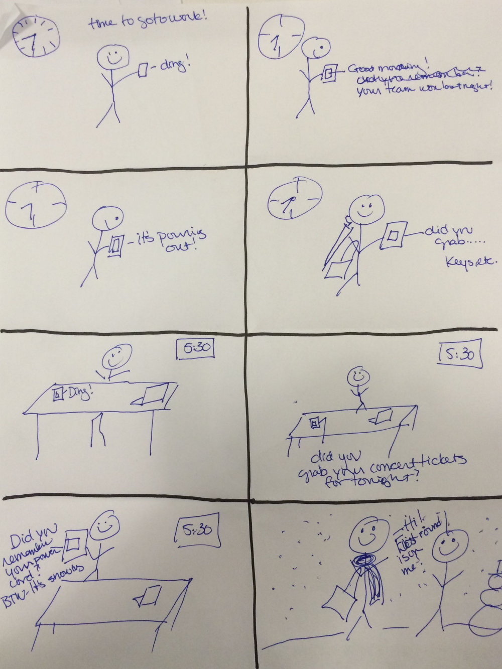 Storyboarding - my creative talents lie elsewhere....