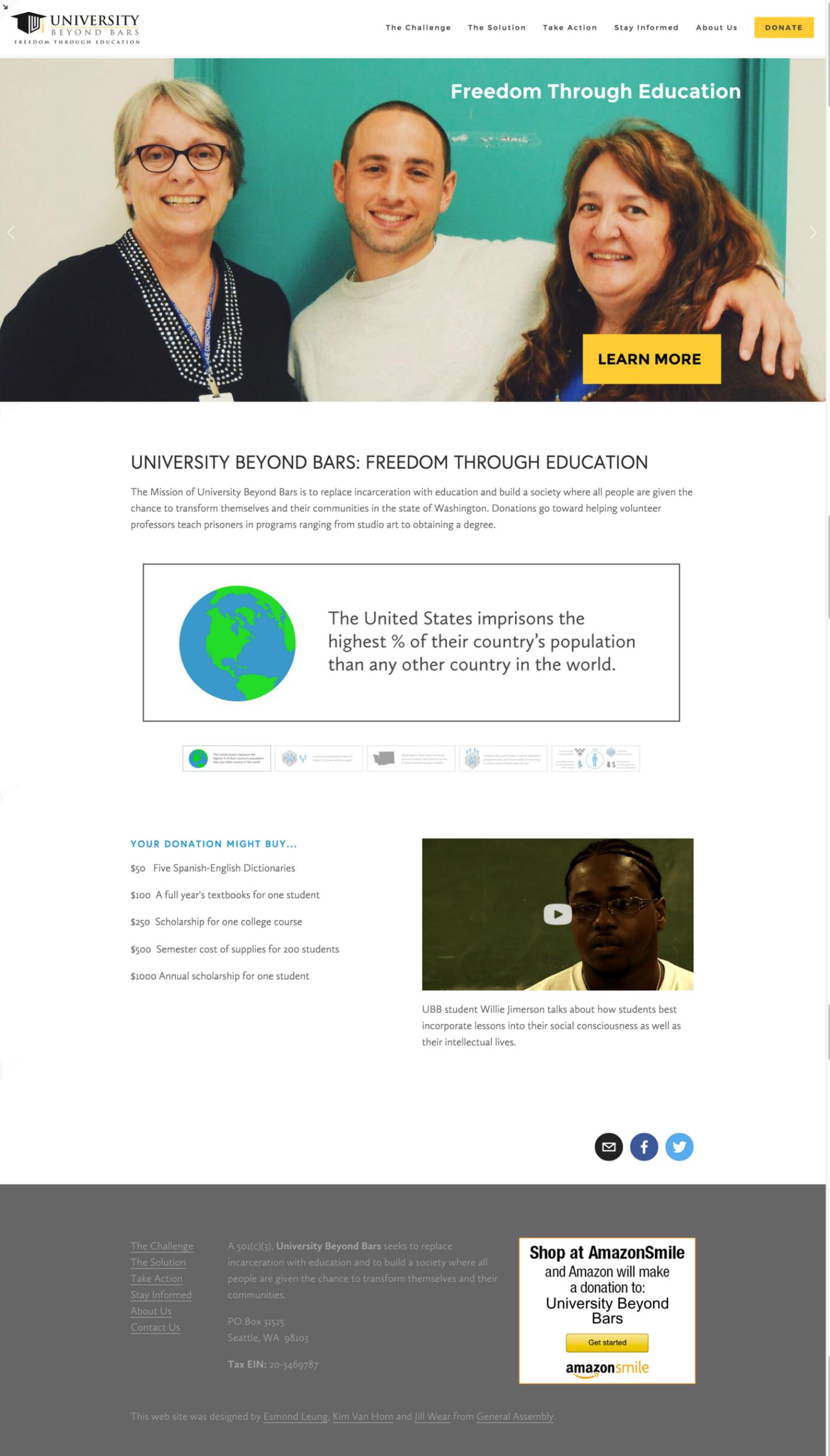 Final University Beyond Bars homepage
