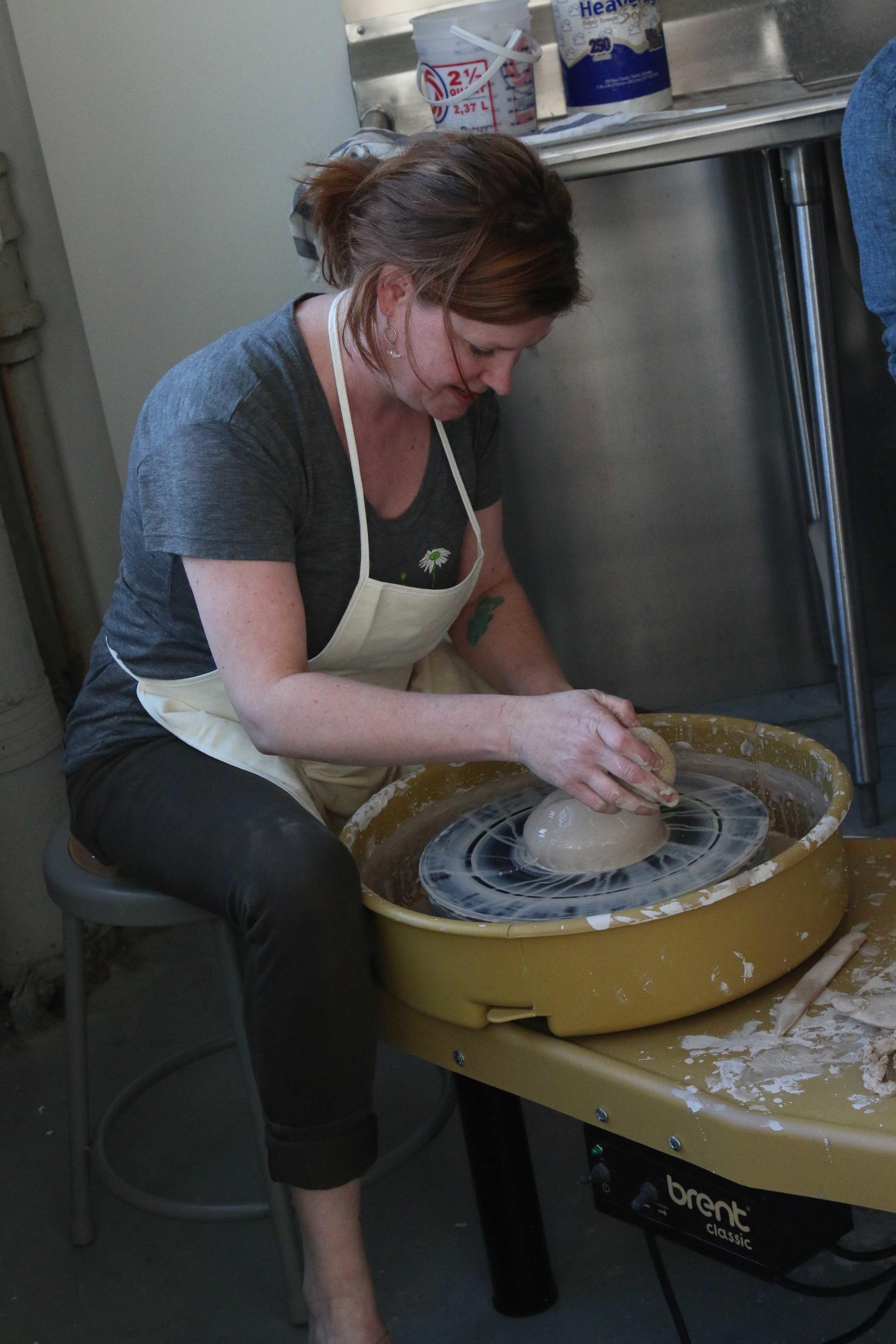 West Elm pottery studio