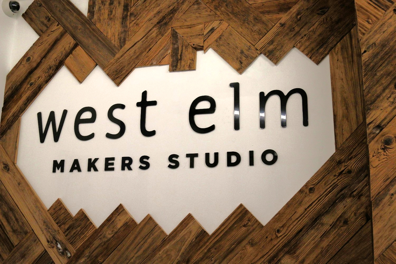 Entrance to West Elm Makers Studio