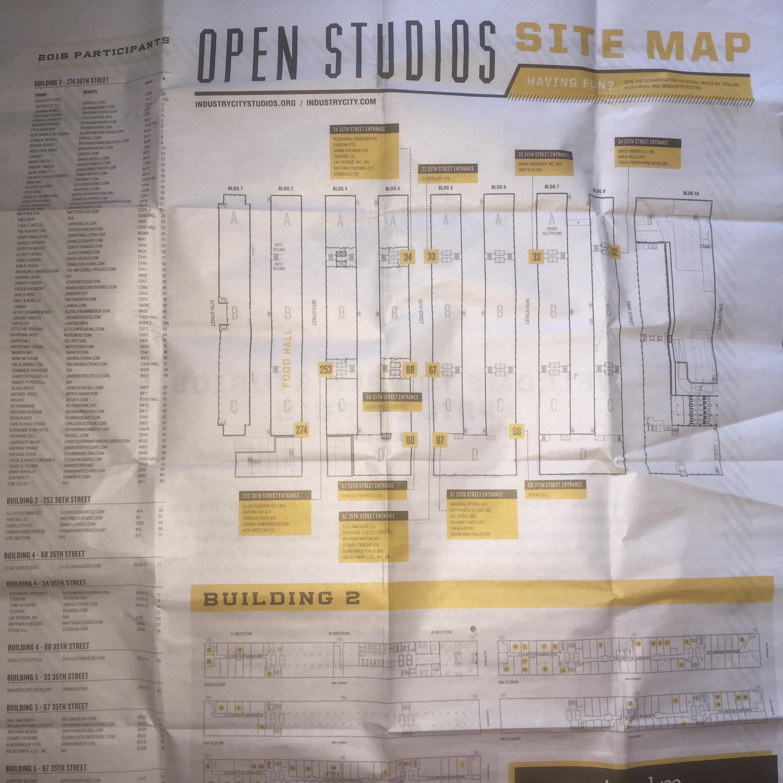 Open Studios Site Map