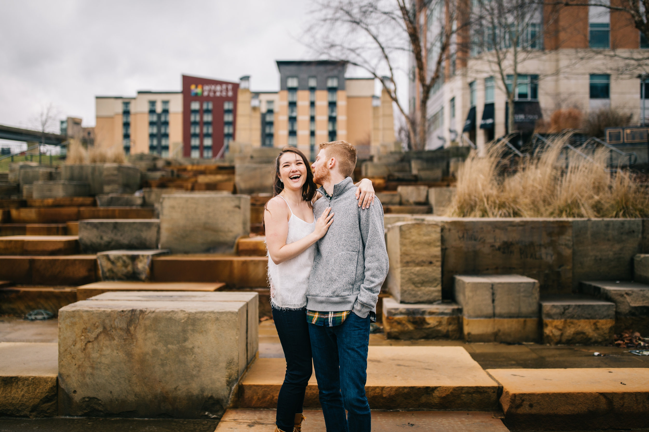 Pittsburgh North Shore engagement session