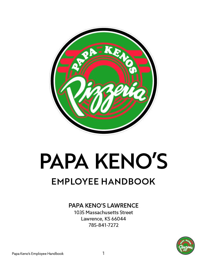 PAPA KENO'S EMPLOYEE HANDBOOK - Lawrence.jpg