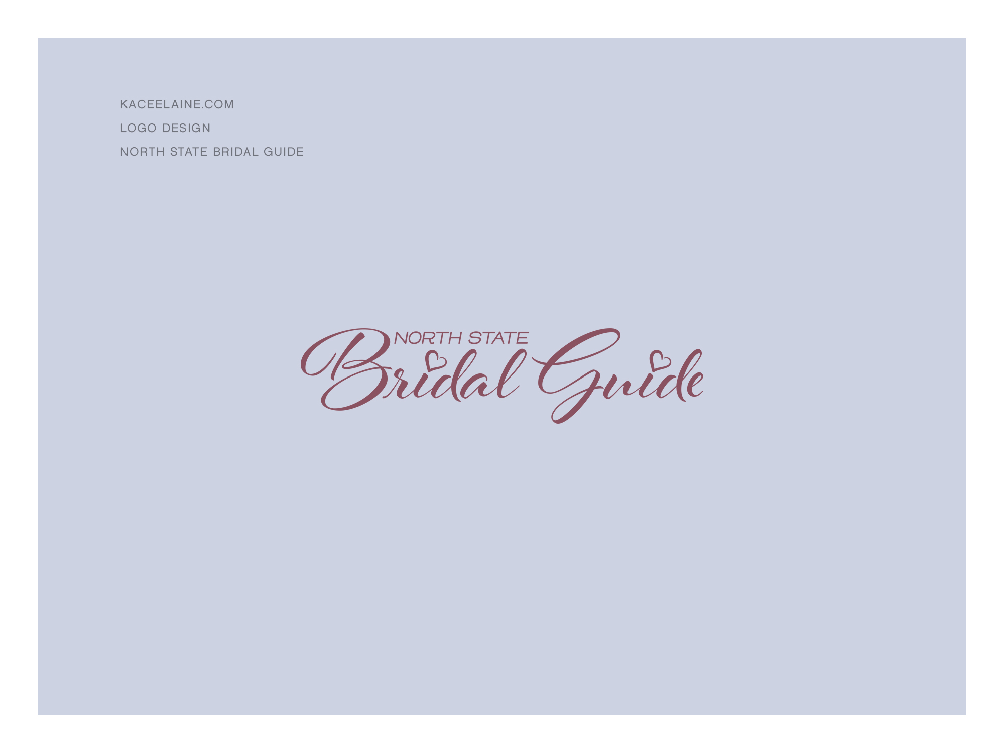 Logo Design for North State Bridal Guide